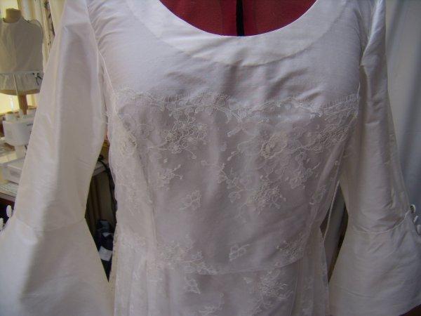 Robe de mariée terminée !