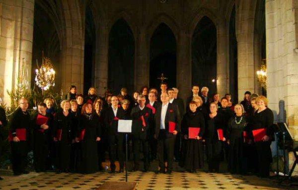 Photo de la chorale le 21/12/12