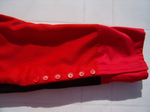 Pantalon militaire   rouge écarlate terminé