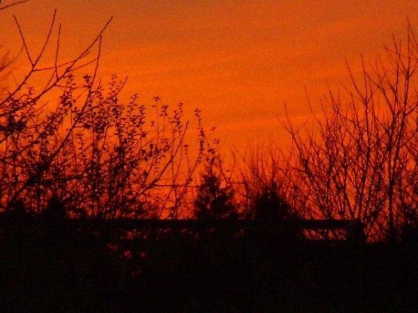 Coucher de soleil d'hier ,3 décembre