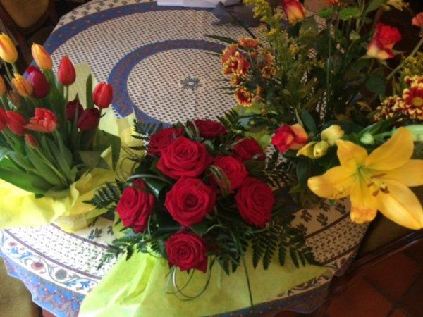 Fleurs et CD reçus pour mon anniversaire !