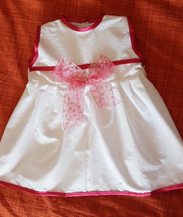 Robes en blanc et rose pour taille 55/60 cm- Vendue