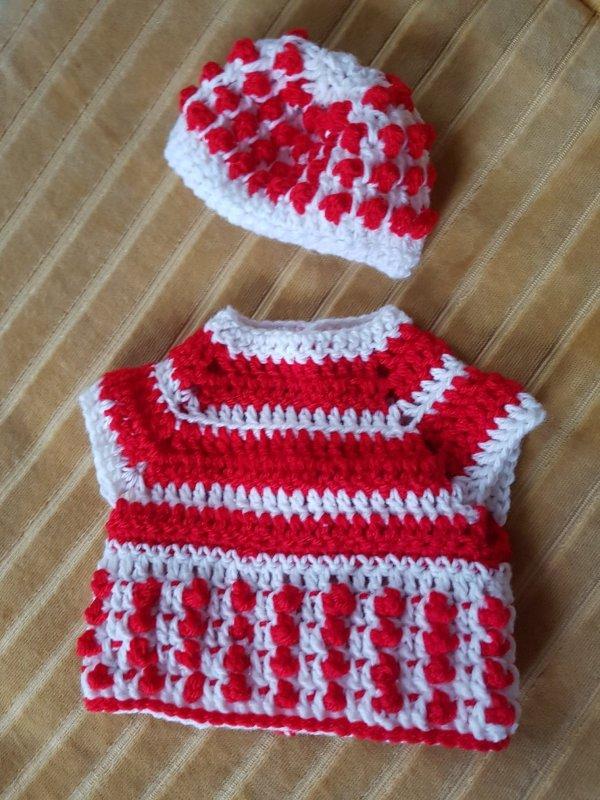 Pull et bonnet  pour Poupée de 40 cm- A vendre