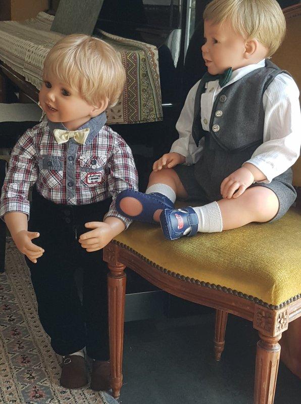 Les grands garçons luis et Peter
