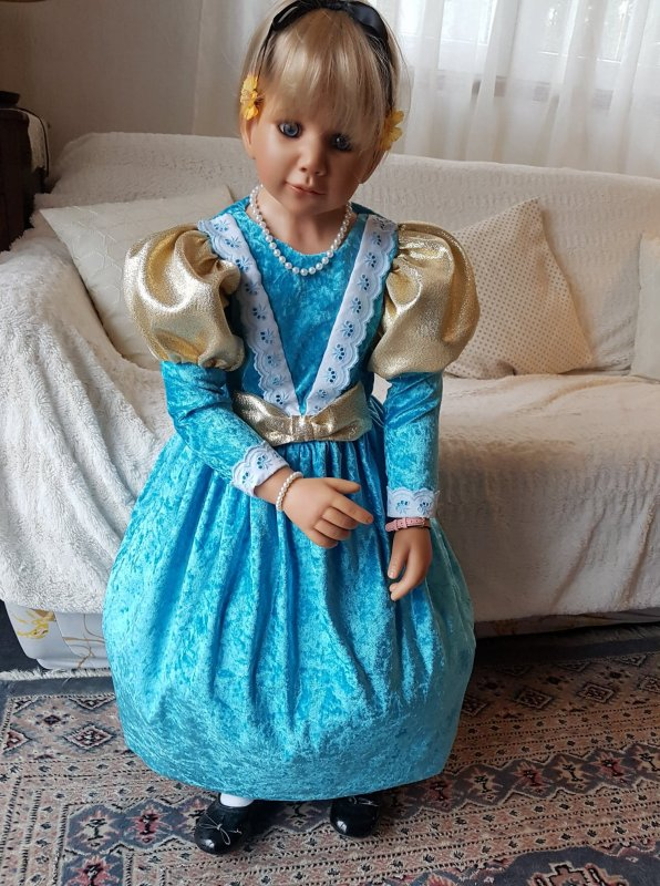 Robe Moyen Age en velours bleu