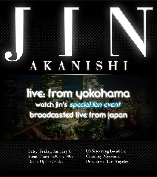 Concert/Fan Event : J to US - Live from Yokohama (Japan) at the Grammy Museum (L.A. - US) (01/2012)
