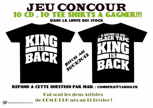 JEU CONCOUR BLACK TAPE : JUSQU AU 31/01/2013 BONNE CHANCE A TOUS.
