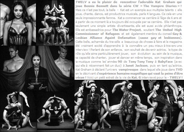 - ''PHOTOSHOOT ●''Découvrez un photoshoot et une interview exclu' de Katerina Graham pour le - « TWELV  »! Voici un nouveau photoshoot, cette fois en noir et blanc pour la belle  qui à également accorder une interview pour le - « TWELV magazine». -