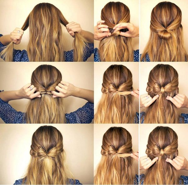 Tuto N½ud dans les cheveux
