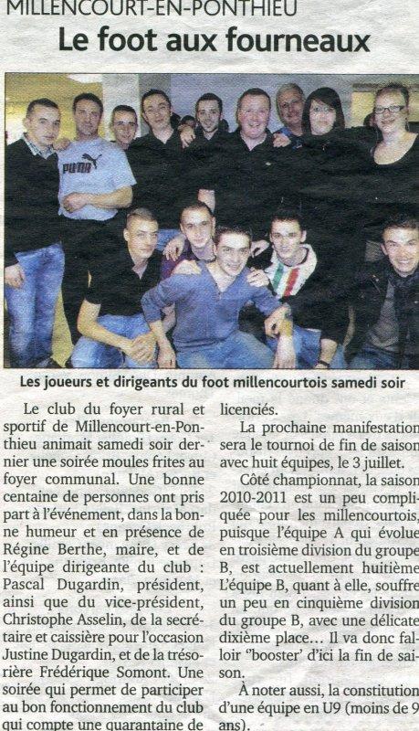 Soirée Moules Frites 12 Mars 2011