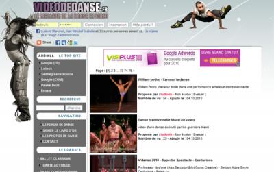 """Le site """"videodedanse.fr"""""""