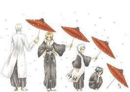 Gin Rangiku Toshiro Momo parapluies