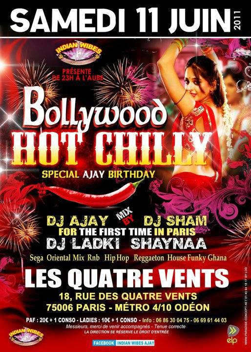 Soirée Bollywood Hot Chilly 2011 !!