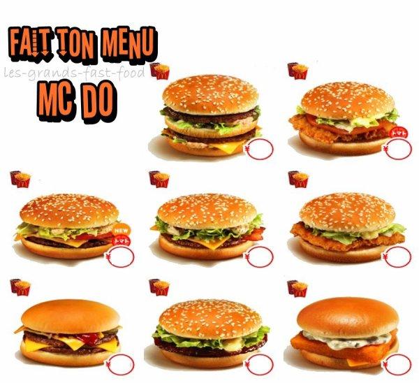 menu mcdo best of