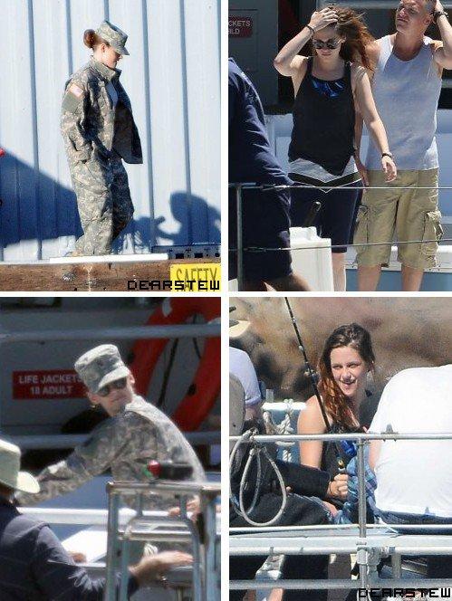 Tournage : Kristen sur le plateau de son nouveau film Camp X-Ray ses derniers jours.