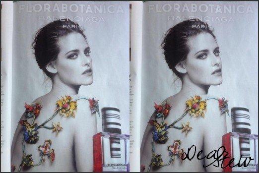 Scan : Premier aperçu de la campagne promotionnelle de Kristen pour Balenciaga Paris: Florabotanica.