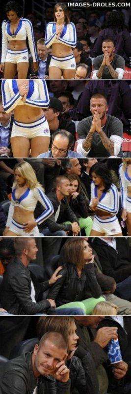 David et victoria Beckham : David Beckham grillé par victoria : ça chauffe!
