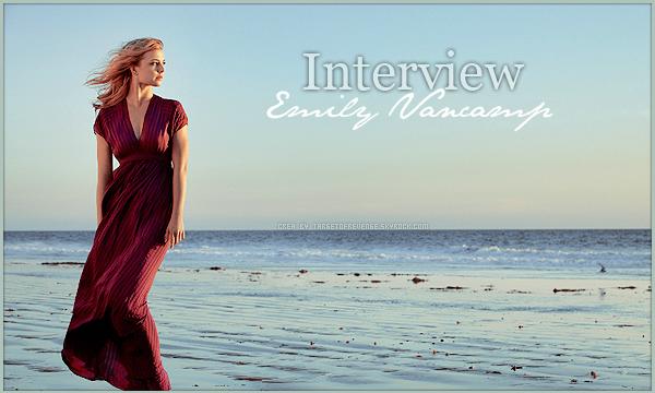 __INTERVIEWS__ Emily se confie sur la fin de Revenge  08 / 05 / 2015