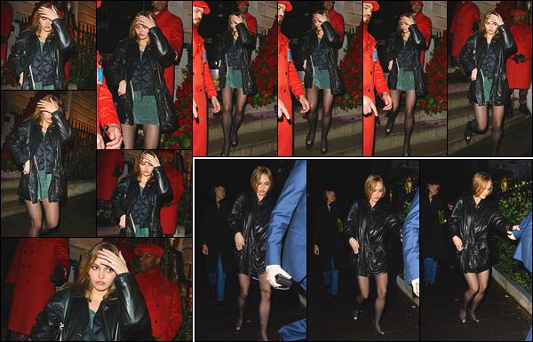 '-15/02/20-''—' Lily-Rose Depp a été photographiée en quittant la boîte de nuit « Annabel's », située à - Londres. Un vrai plaisir de voir l'actrice profiter de son temps au Royaume-Unis. Elle a été vue quittant une discothèque dans le coeur de la capitale. C'est un top.