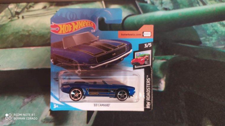 hot wheels chevrolet camaro 1969