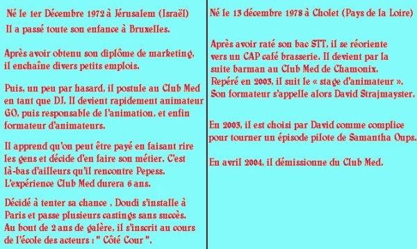 Présentation de David Strajmayster (alias Doudi) et de Guillaume Carcaud (alias Pepess)