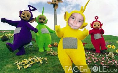 les teletubbies et super man