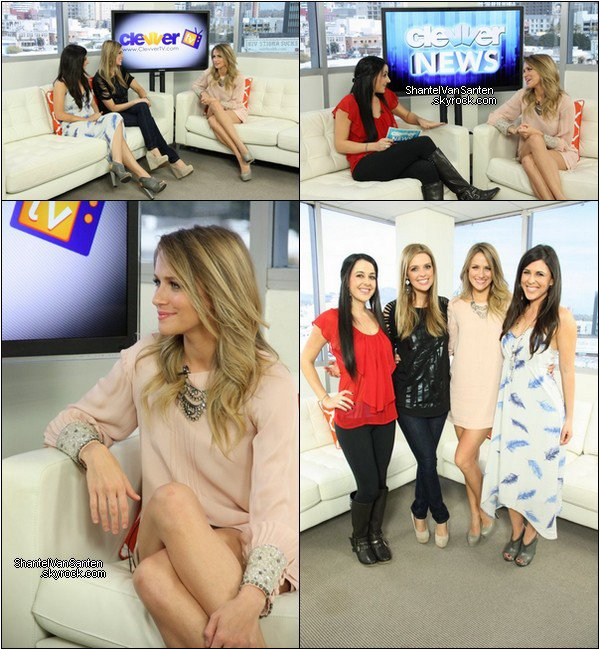 April 12 - Interview Clevver TV, Personal & Twit Pic