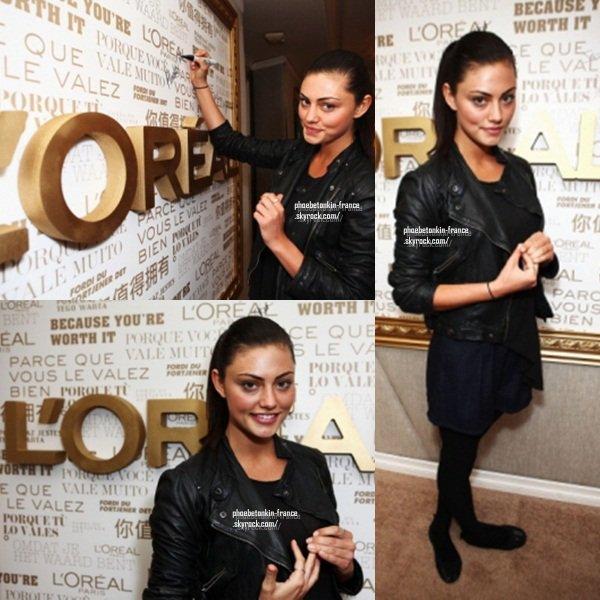 HBO Luxury Lounge Phoebe était présente au second jour du HBO Luxury Lounge Featuring L'Oréal Paris & New Era Cap, le 15 janvier. Elle était toute belle.