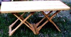 Table à tréteaux XVème siècle