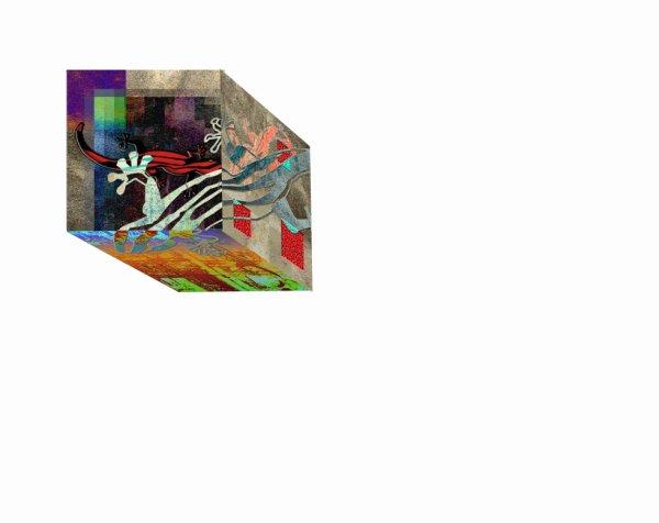 les 3 autres faces du cube lézard