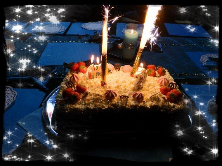 Gâteau pour les 20 ans de mon fils.