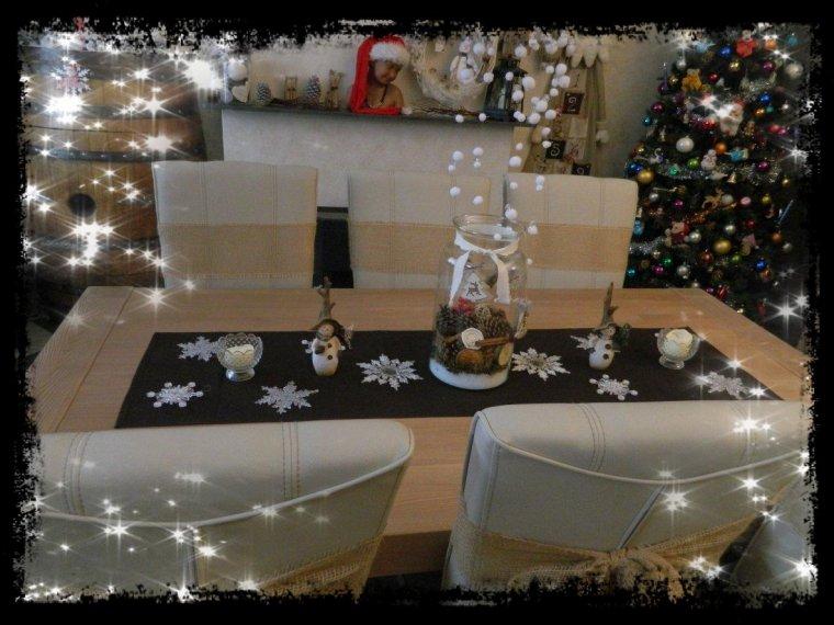 Table décorée en avant première