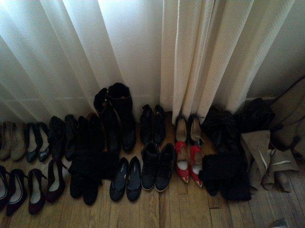 Il parait que j'ai trop de chaussures...il parait ;)