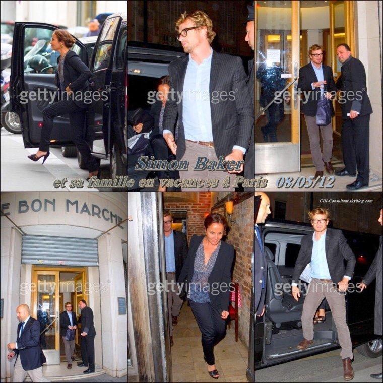 News de Simon Baker en vacance à Paris ! vue dans les rues le 08/05/12  Voici les photos