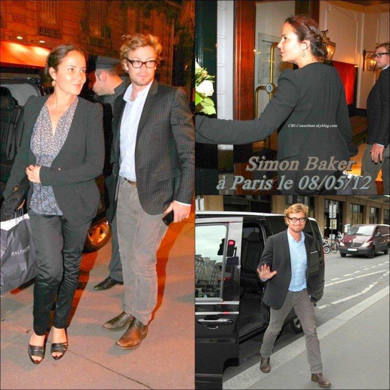 Lien via l'interview sur TF1 de Simon Baker faite le 09/05/12 plus les Nouvelles photos de Simon Baker vu dans les rues de Paris le 08/05/12