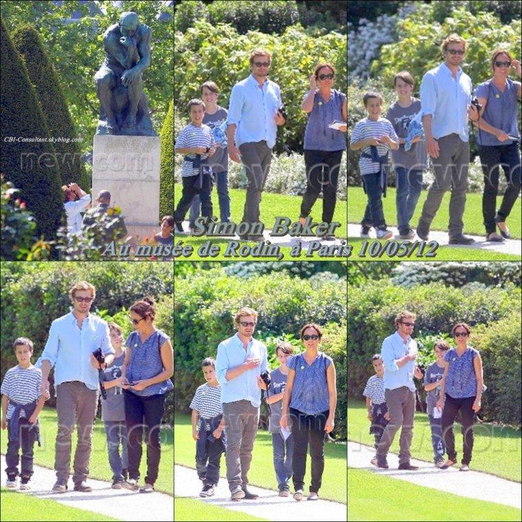News de Simon Baker qui a été vue au Au musée de Rodin, à Paris 10/05/12, voici les photos