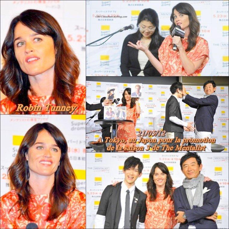 News de Robin Tunney qui était au A Tokyo, au Japon pour la promotion de la saison 3 de The Mentalist le 21/05/12 voici les photos