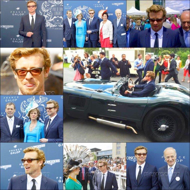 News de Simon Baker invité aux Prix de Diane Longines à Chantilly le 17/06/12. Voici les photos