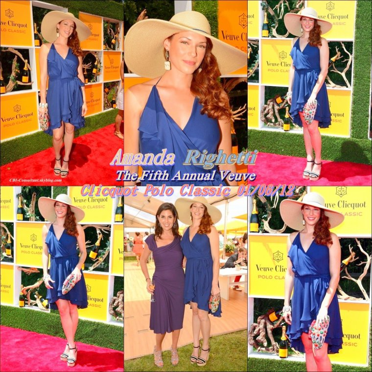 News Amanda Righetti qui était invité aux The Fifth Annual Veuve Clicquot Polo Classic le 01/06/12