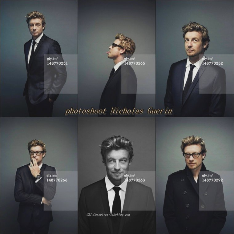 News shoot de Simon Baker