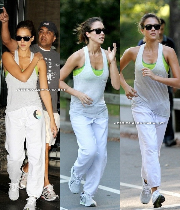 "Le 29 Août 2010 || jessica fesait son jogging avec son papa à New York ""Central Park""."