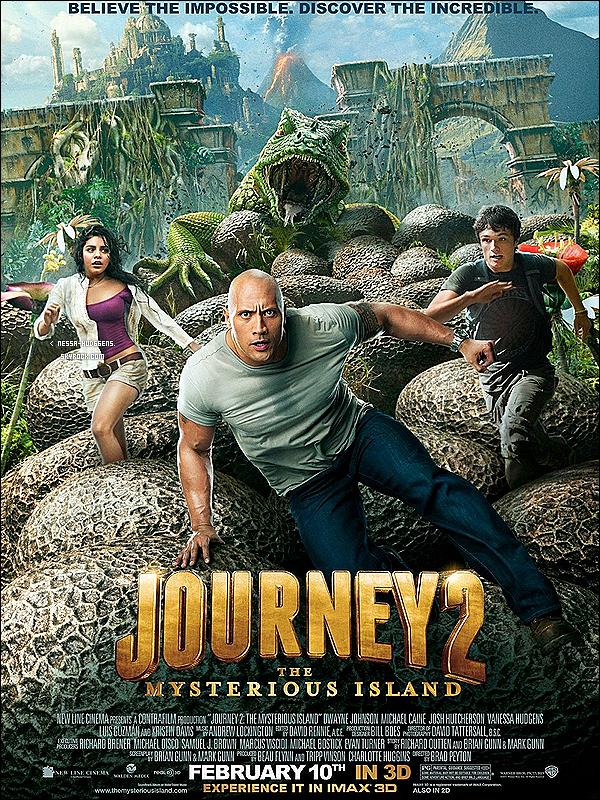 . PHOTOSHOOT : Journey 2: The Mysterious Island Découvrez le permier poster officiel de Journey 2 et aussi le premier trailer du film !_Tu en pense quoi ? Sortie du film prévue pour : Février 2012 __ Et voici la vidéo Behind The Scenes + interview du film !.
