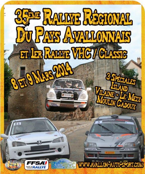 Présentation du 35 eme Rallye de L'Avallonnais 2014