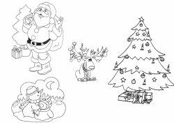 Coloriage sur Noël