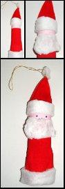 Père Noël en carton à suspendre