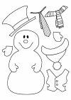 Habillage d'un bonhomme de neige