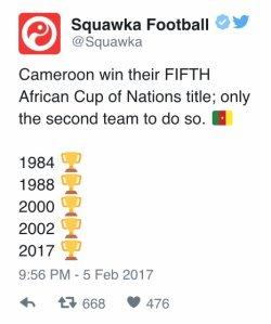 Le Cameroun champion d'Afrique