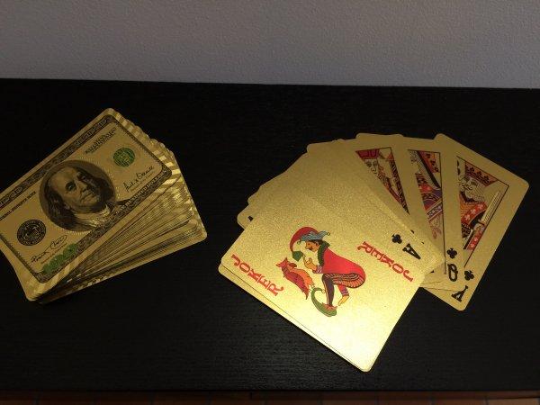 Jeu de cartes Or 24K
