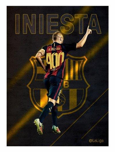 400e match de Liga pour Iniesta