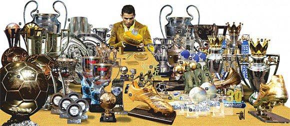 L'armoire à Trophées de Cristiano Ronaldo